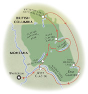 Glacier Montana Map